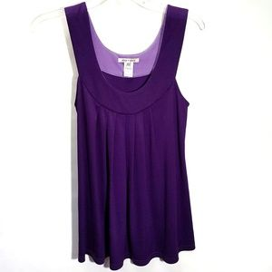 Alice+Olivia Purple Silk Scoop Tank Top sz XS